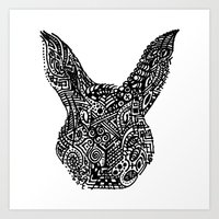 Complex Bunny Art Print