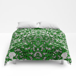 Bled Out Green Comforters