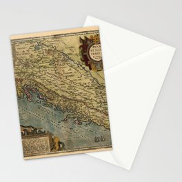 Map Of The Adriatic Sea 1590 Stationery Cards