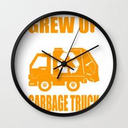 garbage man garbage collection garbage truck bin eco Wall Clock