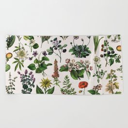 vintage botanical print Beach Towel