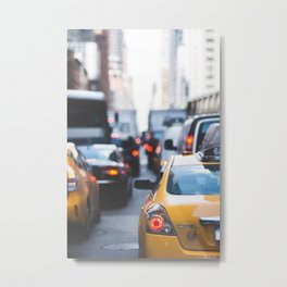 TAXI - CAB - CITY - CARS - PHOTOGRAPHY Metal Print