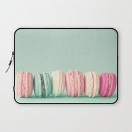 Sweet macarons, macaroons over mint Laptop Sleeve