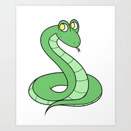 Sneeky Snek Art Print