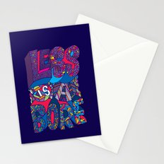 Less is a Bore Stationery Cards