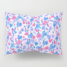 Flower Field Lilac Blue Pillow Sham
