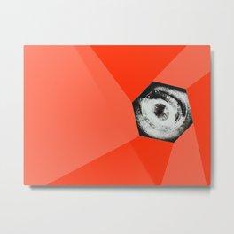 Keeping an eye - Collage Artwork - Man with a Movie Camera Metal Print