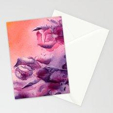 Iris, Pink, Purple, Peach Flowers Stationery Cards