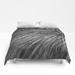 Slate Gray Pixel Wind Comforters