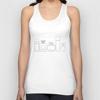 perfume Tank Tops featuring Perfume by Illustrated by Jenny