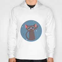 space cat Hoodies featuring Space cat by Alex Fabri