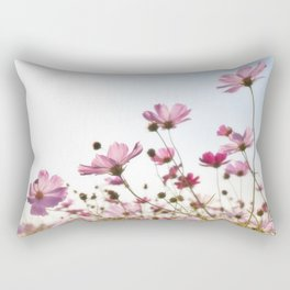 Pink Cosmos Rectangular Pillow