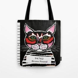 Cat Mug Shot Tote Bag