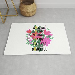 Happy Mothers Day Message Best Mom Grandma Gift Rug