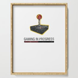 Gaming Is Progress Joystick Videogamer Computer Keyboards Gamers Gift Serving Tray