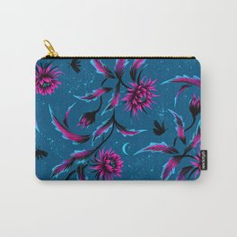 Queen of the Night - Teal / Purple Carry-All Pouch