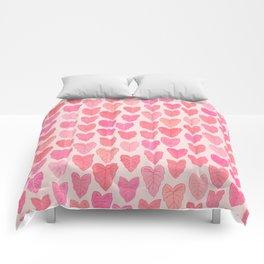 Pink Leaves Comforters