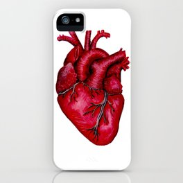 Anatomical Heart Painting Red iPhone Case