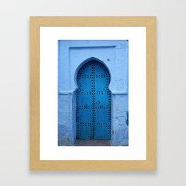 Exotic Blue Door in Morocco Framed Art Print