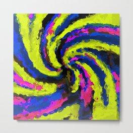 psychedelic graffiti watercolor painting abstract Metal Print
