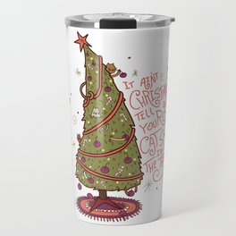 Cat Christmas Graphic Travel Mug