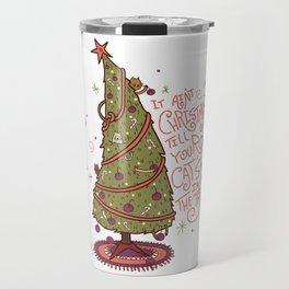 Cat Christmas Graphic Travel Mug