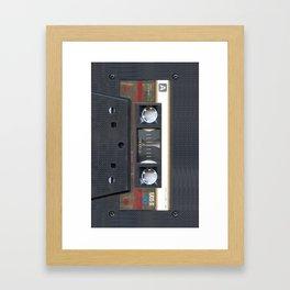 Cassette Gold Framed Art Print