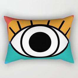Bright Rainbow Eye Design Rectangular Pillow