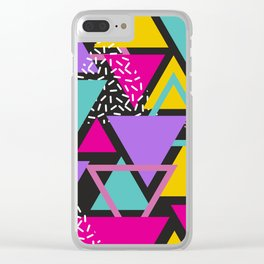 Colorul Triangle Abstract Clear iPhone Case