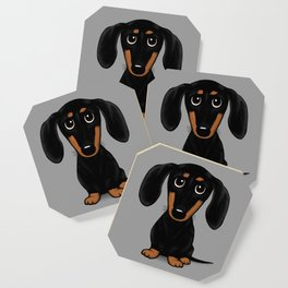 Black and Tan Shorthaired Dachshund Coaster