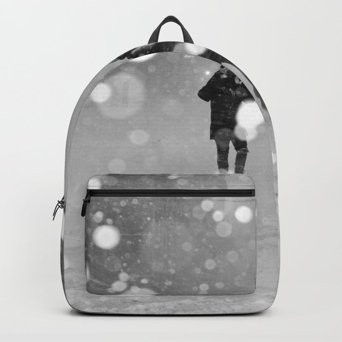 Snow in winter Backpack