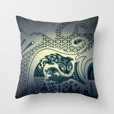 Midnight swirls Throw Pillow