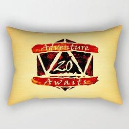 D20 Adventure Awaits Watercolor Way of Blood Rectangular Pillow