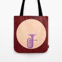 trumpet Tote Bags featuring Trumpet by Design4u Studio
