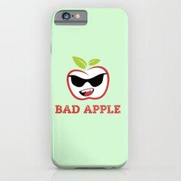 Bad Apple in Black Sunglasses with Attitude iPhone Case