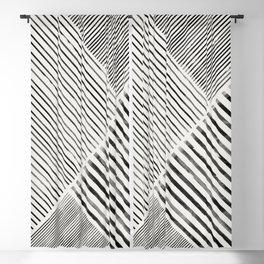 Black and White Stripes, Abstract Blackout Curtain