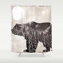 Going Wild Bear Shower Curtain