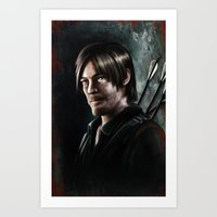 daryl dixon Art Prints featuring Daryl Dixon by Angelo Quintero