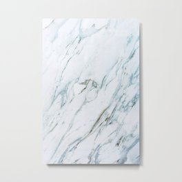 Classic White Marble Metal Print