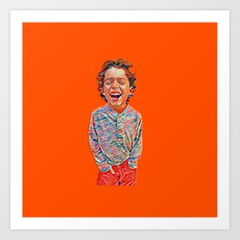Portrait of a Happy Child Art Print