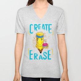Create | Erase - Scribs (flat) Unisex V-Neck