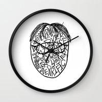 dwight schrute Wall Clocks featuring DWIGHT by Grace Billingslea