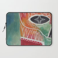 calavera Laptop Sleeves featuring Calavera 1 by Santiago Uceda