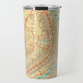 Brasilia Map Retro Travel Mug