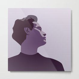 Model Man B (Purple Hue) Metal Print