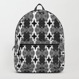 Uh Oh: Black and White-Inverted Backpack