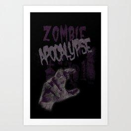 Zombie Apocalypse Art Print