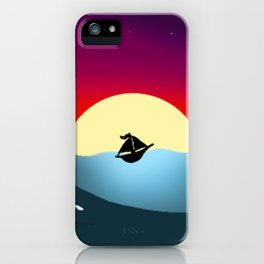 Sailboat in Sunset iPhone Case