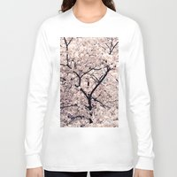 cherry blossom Long Sleeve T-shirts featuring Cherry Blossom * by Neon Wildlife