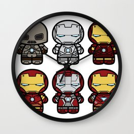 Chibi-Fi Iron Man Movie Armory Wall Clock